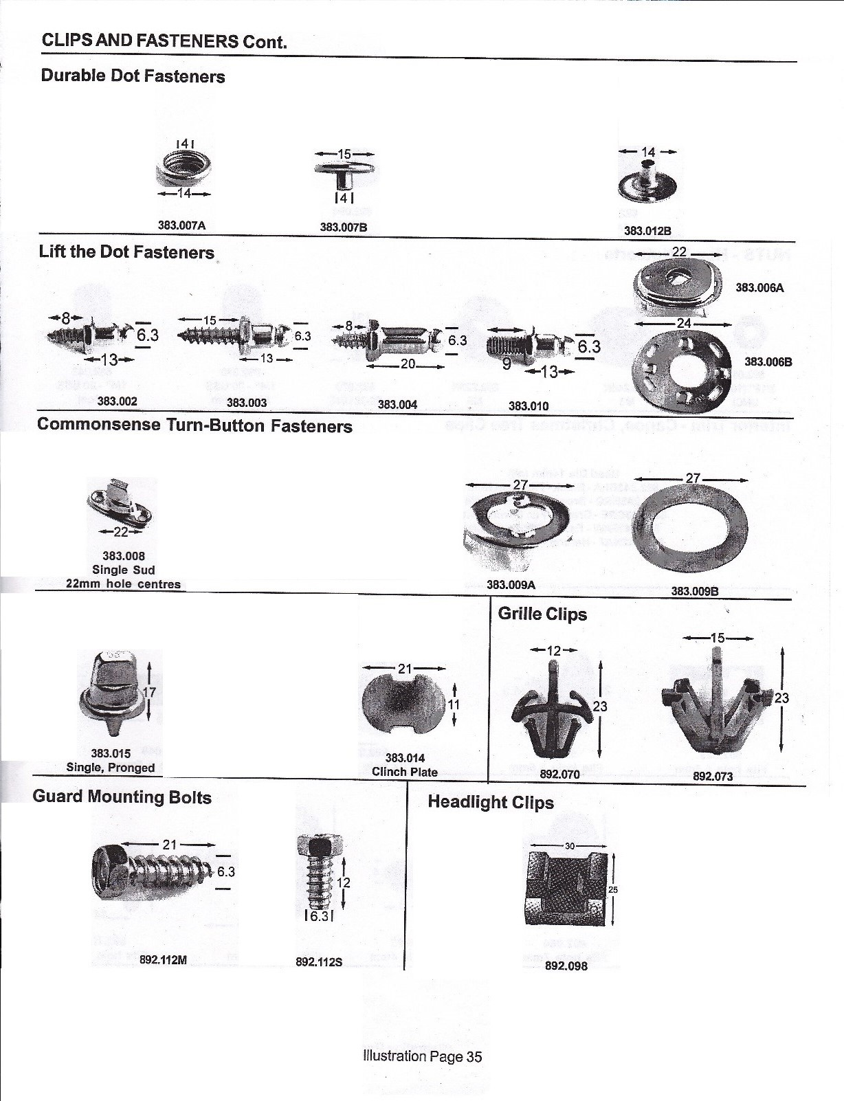 page35 illustrated product groups index wiring harness fasteners at panicattacktreatment.co