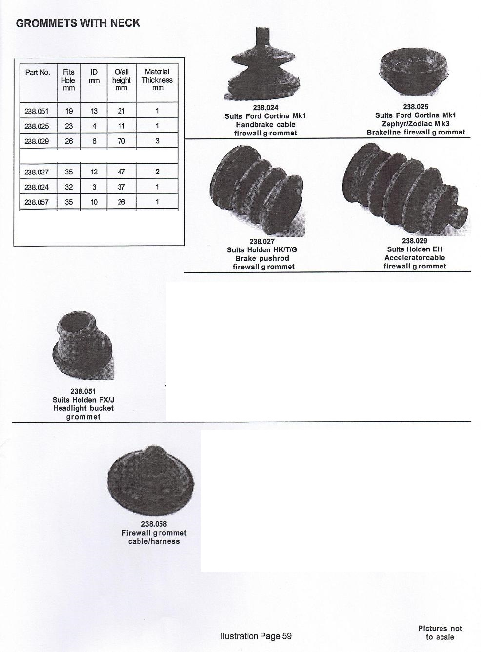 Scott Old Auto Rubber Catalogue Wire Harness Grommet Grommets With Neck Push Rod Type Page 59